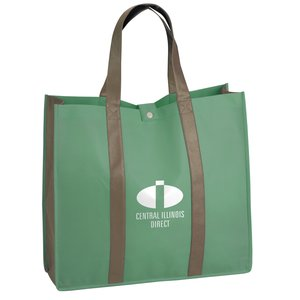 Two-Tone Folding Shopper Tote Main Image
