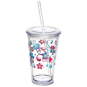 Spirit Tumbler - 16 oz. - Flowers Main Image