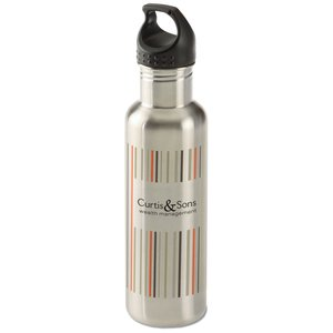h2go Bolt Stainless Bottle - 24 oz. - Stripes Main Image