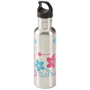 h2go Bolt Stainless Bottle - 24 oz. - Flowers Main Image