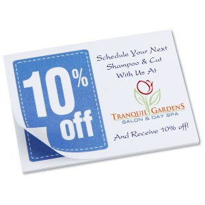 "Post-it® Discount Coupons - 3"" x 4"" - 25 Sheet - 10% Main Image"