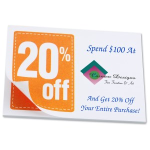 "Post-it® Discount Coupons - 3"" x 4"" - 25 Sheet - 20% Main Image"