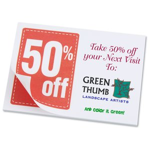 "Post-it® Discount Coupons - 3"" x 4"" - 25 Sheet - 50%"
