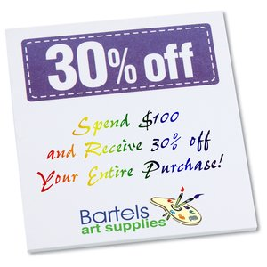 "Post-it® Discount Coupons - 3"" x 2-3/4"" - 25 Sheet - 30% Main Image"