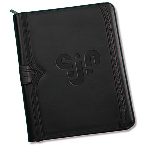 Wingtip Zippered Padfolio Main Image