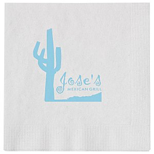 Beverage Napkin - 1-ply - White Main Image