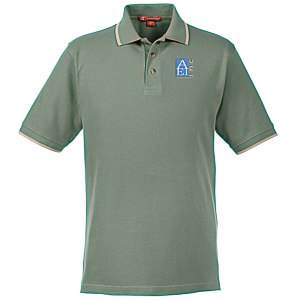 Harriton 6 oz. Pique Polo with Tipping Main Image