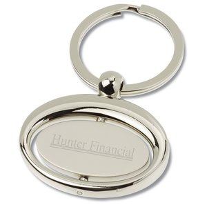 Oval Rotating Key Tag Main Image