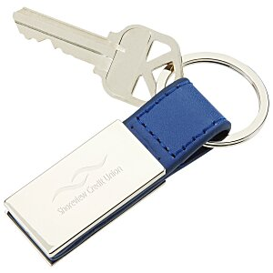 Colorplay Leatherette Key Ring Main Image