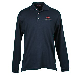 Egyptian Interlock Long-Sleeve Polo - Men's Main Image