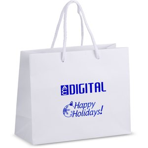 "Holiday Matte Eurotote - 8"" x 10"" - Happy Holidays"