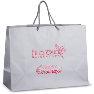"Holiday Matte Eurotote - 12"" x 16"" - Happy Holidays Main Image"