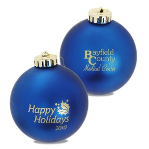 "Ornament - 3 1/4"" Round Shatterproof Ball - Happy Holidays Main Image"