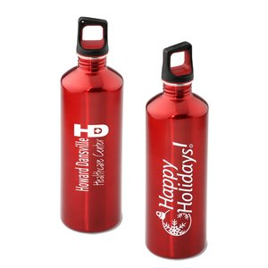 h2go Stainless Bottle - 24 oz. - Happy Holidays - Color Main Image
