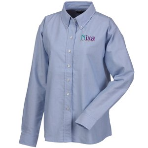 Blue Generation Long Sleeve Oxford - Ladies' - Solid Main Image