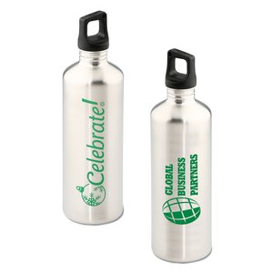 h2go Stainless Bottle - 24 oz. - Celebrate - Silver Main Image