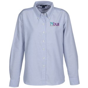 Blue Generation Long Sleeve Oxford - Ladies' - Stripes Main Image
