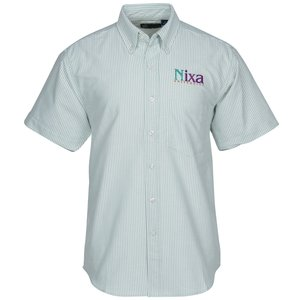 Blue Generation Short Sleeve Oxford - Men's - Stripes Main Image