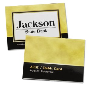 ATM/Debit Card Pocket Register - Executive Gold/Black Main Image