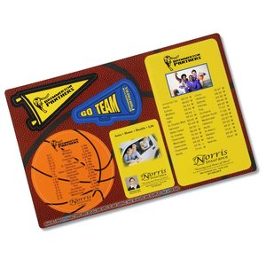 Repositionable Sticker Spirit Card - Basketball Main Image