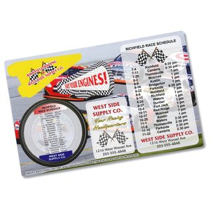 Repositionable Sticker Spirit Card - Nascar