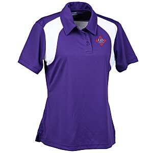 Extreme Performance Color-Block Textured Polo - Ladies' Main Image