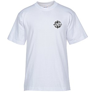 Bayside USA Made T-Shirt - White - Screen Main Image