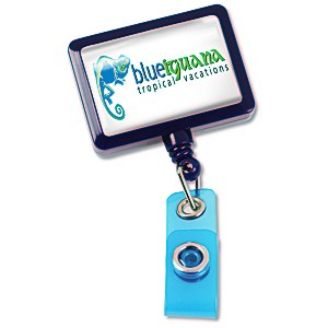 "Jumbo Retractable Badge Holder - 40"" - Rectangle - Opaque"