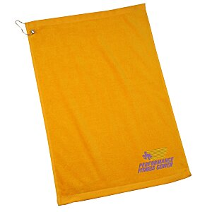 Golf Towel with Grommet and Clip