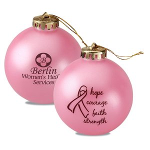 Breast Cancer Awareness Ornament - Words Main Image