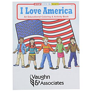 I Love America Coloring Book Main Image