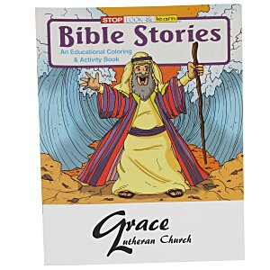 Bible Stories Coloring Book Main Image