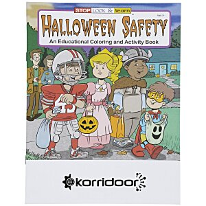 Halloween Safety Coloring Book Main Image