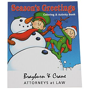 Season's Greetings Coloring Book Main Image
