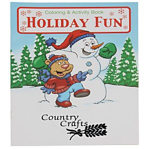 Holiday Fun Coloring Book Main Image