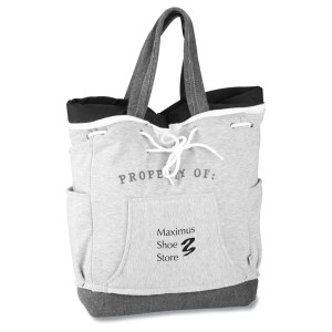 Our Team Sweatshirt Backpack Tote