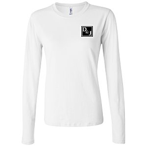 Bella+Canvas Long Sleeve Jersey T-Shirt - Ladies' - White Main Image