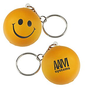 Smiley Face Mood Stress Keychain Main Image