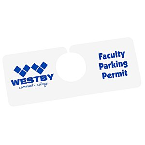 "Hanging Parking Permit - 2"" x 5"" Main Image"