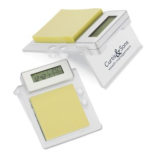 Clock w/Memo Pad Holder - Closeout Main Image