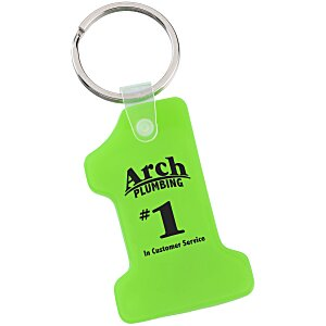 Number One Soft Key Tag - Translucent