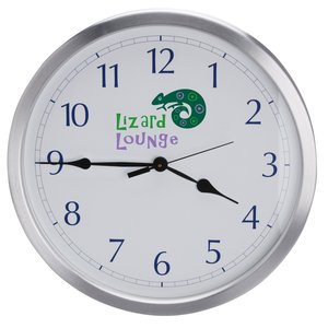 "14"" Diameter Metal Wall Clock - Closeout Main Image"