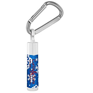Holiday Value Lip Balm with Carabiner - Snowflakes Main Image