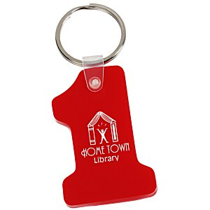 Number One Soft Keychain - Opaque Main Image