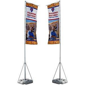 Summit Outdoor Banner Flag - Double Sided Graphics Main Image