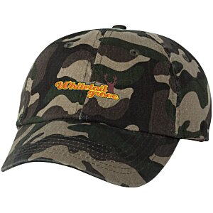 Bio-Washed Cap - Camo - Embroidered Main Image