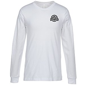 Bella+Canvas Long Sleeve Crewneck T-Shirt - Men's - White Main Image