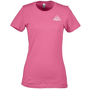 Next Level Fitted 4.3 oz. Crew T-Shirt - Ladies' - Screen Main Image
