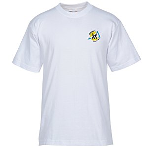 Bayside USA Made T-Shirt - White - Embroidered Main Image