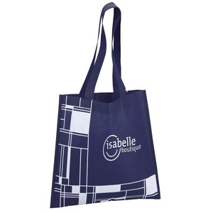 Blocks Printed Tote - 24 hr